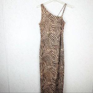Cache zebra print maxi dress